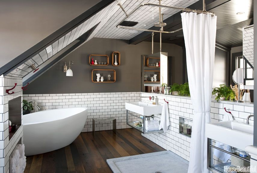 Attic Bathroom - Masculine Bathroom Decor