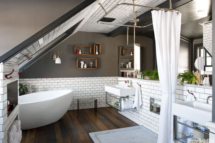 Top Pin of the Day: A Masculine Attic Bathroom