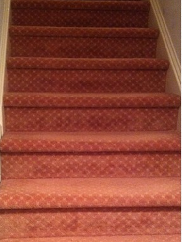 Carpeted Stairs Remodel Before After Stairwell