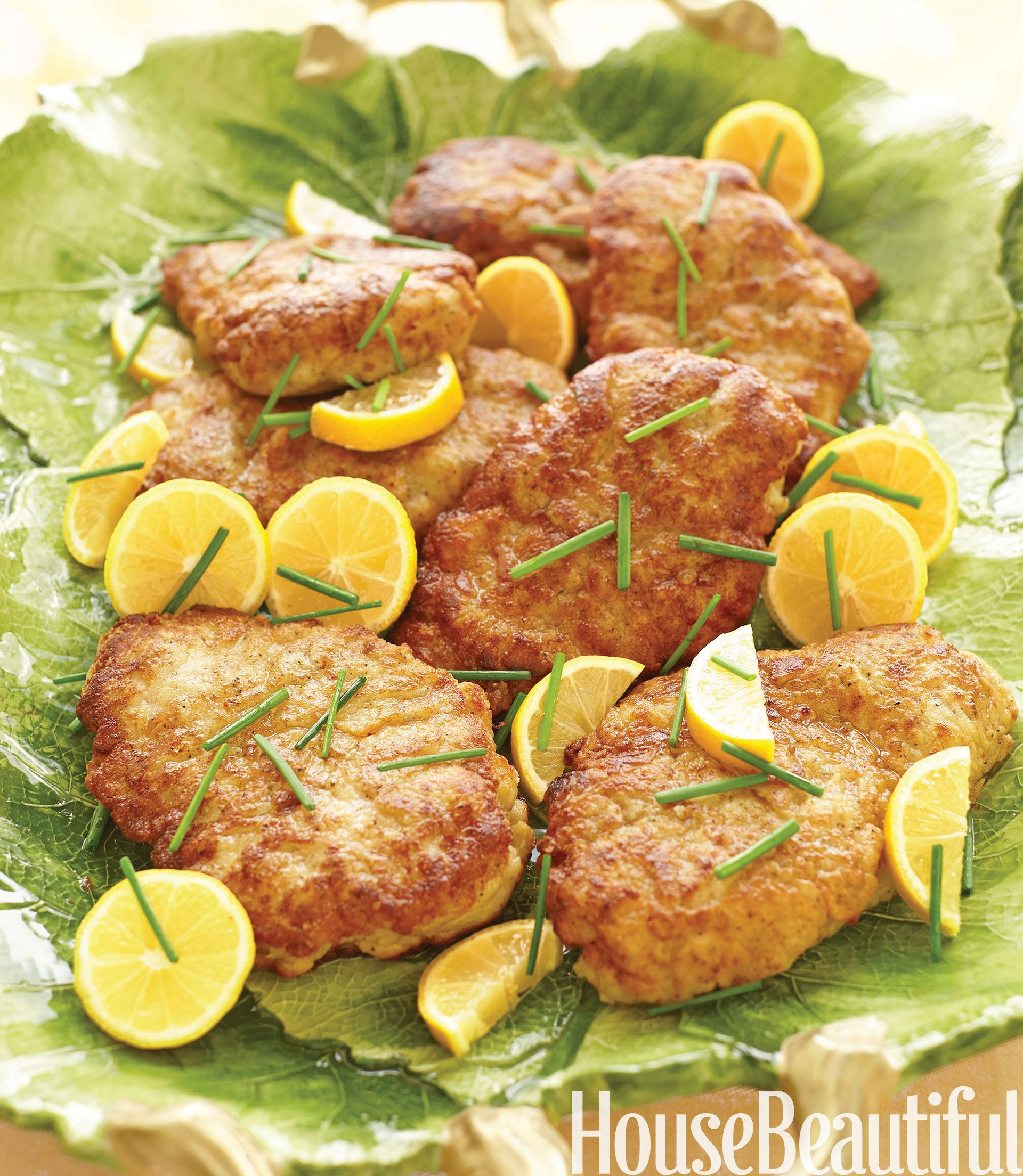 Parmesan-Crusted Chicken with Lemon Butter from Alex Hitz