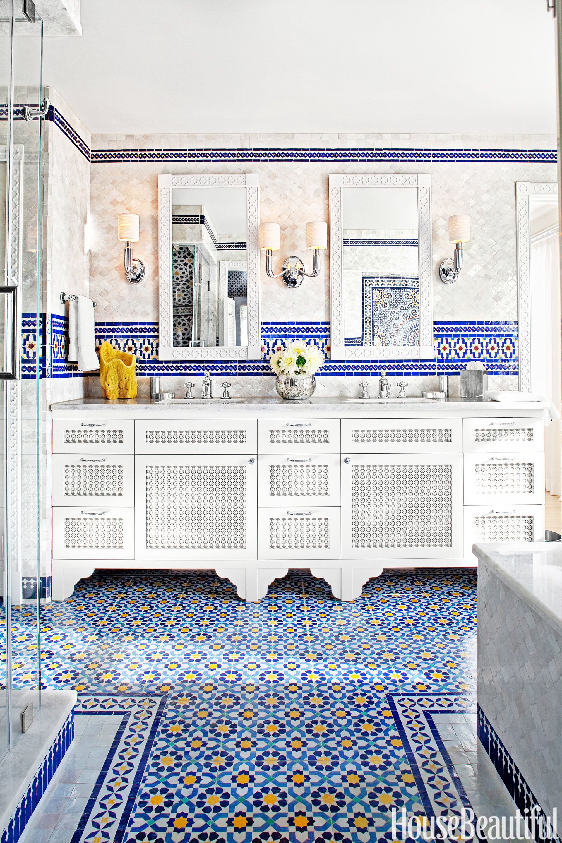moroccan tile bathroom