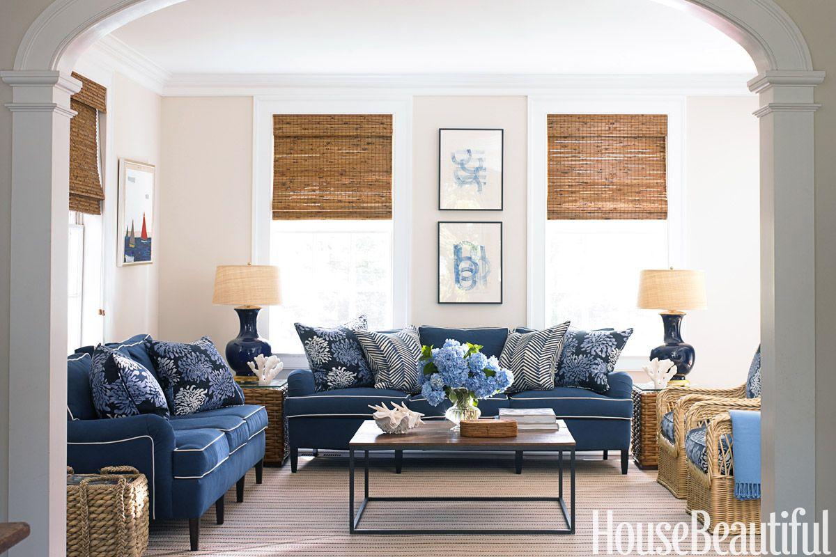 white family room interiors