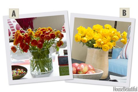 Orange or yellow ranunculus floral arrangements for home orange or yellow ranunculus mightylinksfo