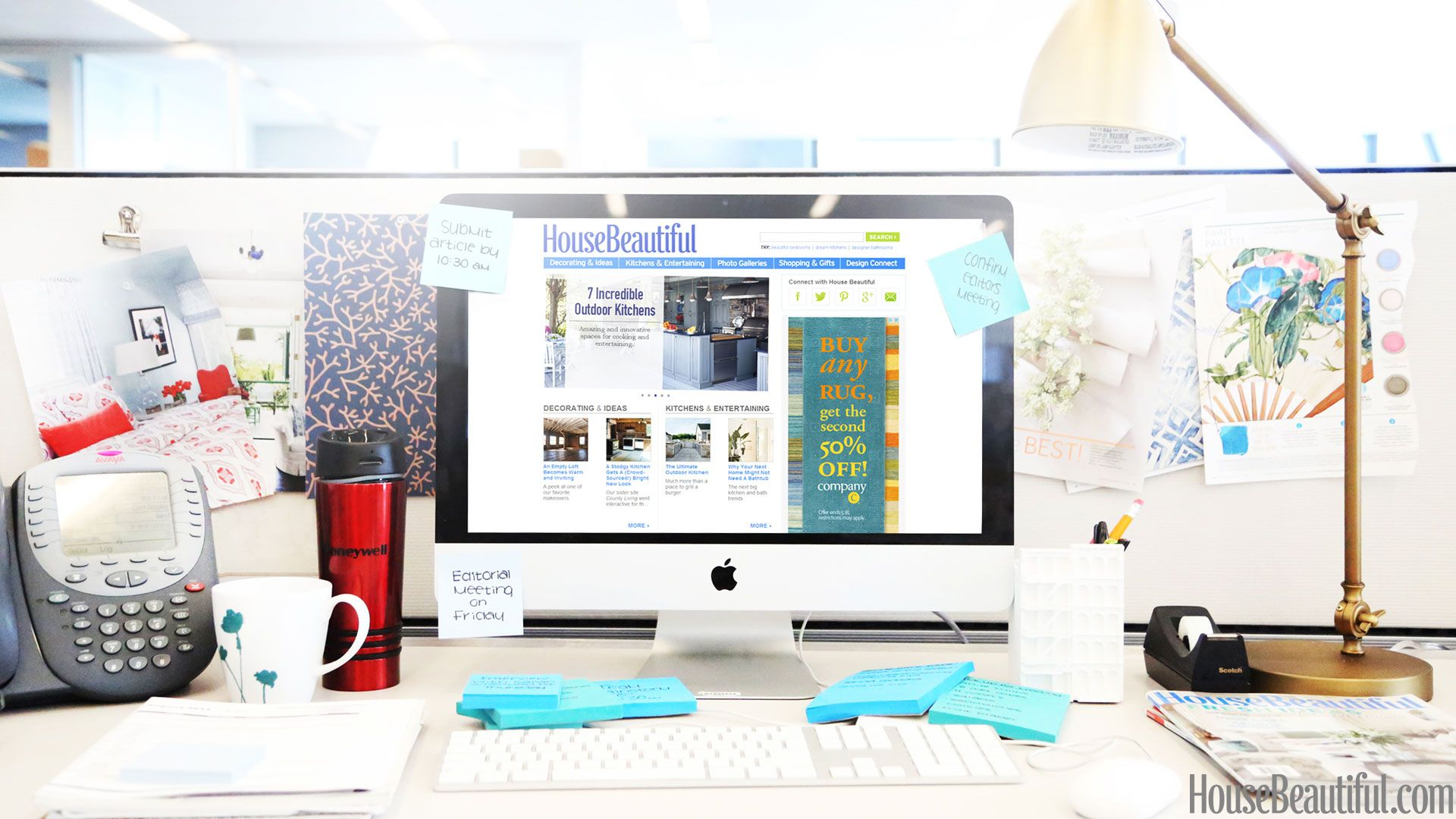 brad goreski desk makeover before