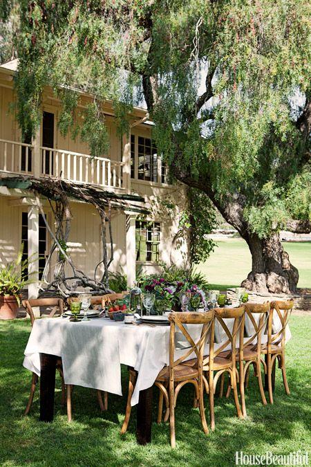 A Lush Outdoor Tablescape