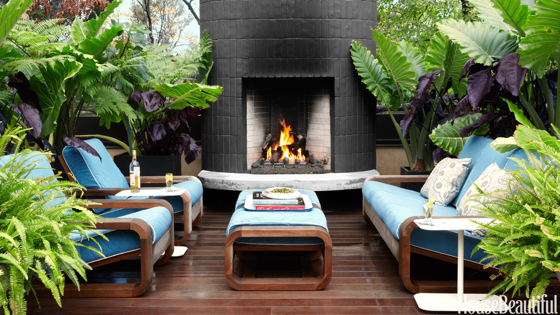 22 stylish outdoor fireplaces that will keep you toasty all night