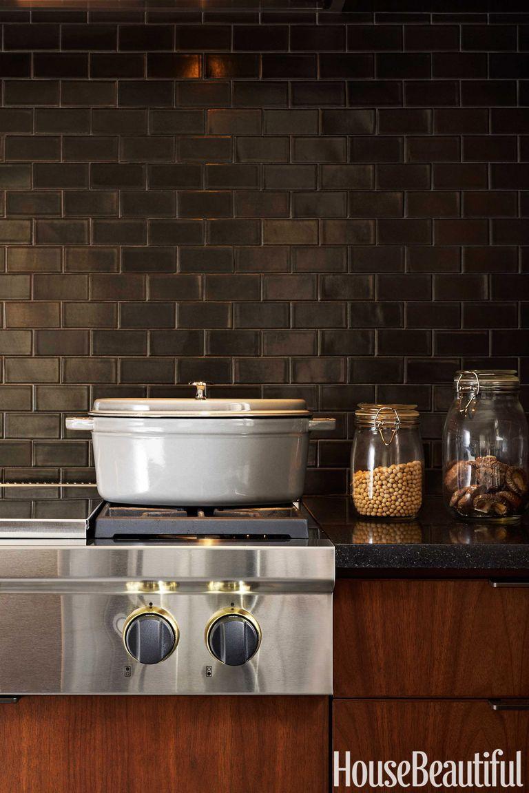 12 Black Kitchens Black Cabinet And Backsplash Ideas