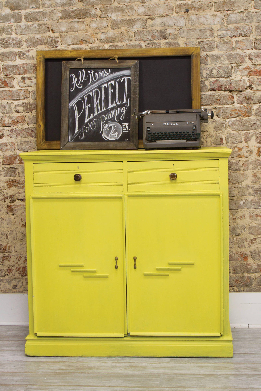 modern yellow buffet