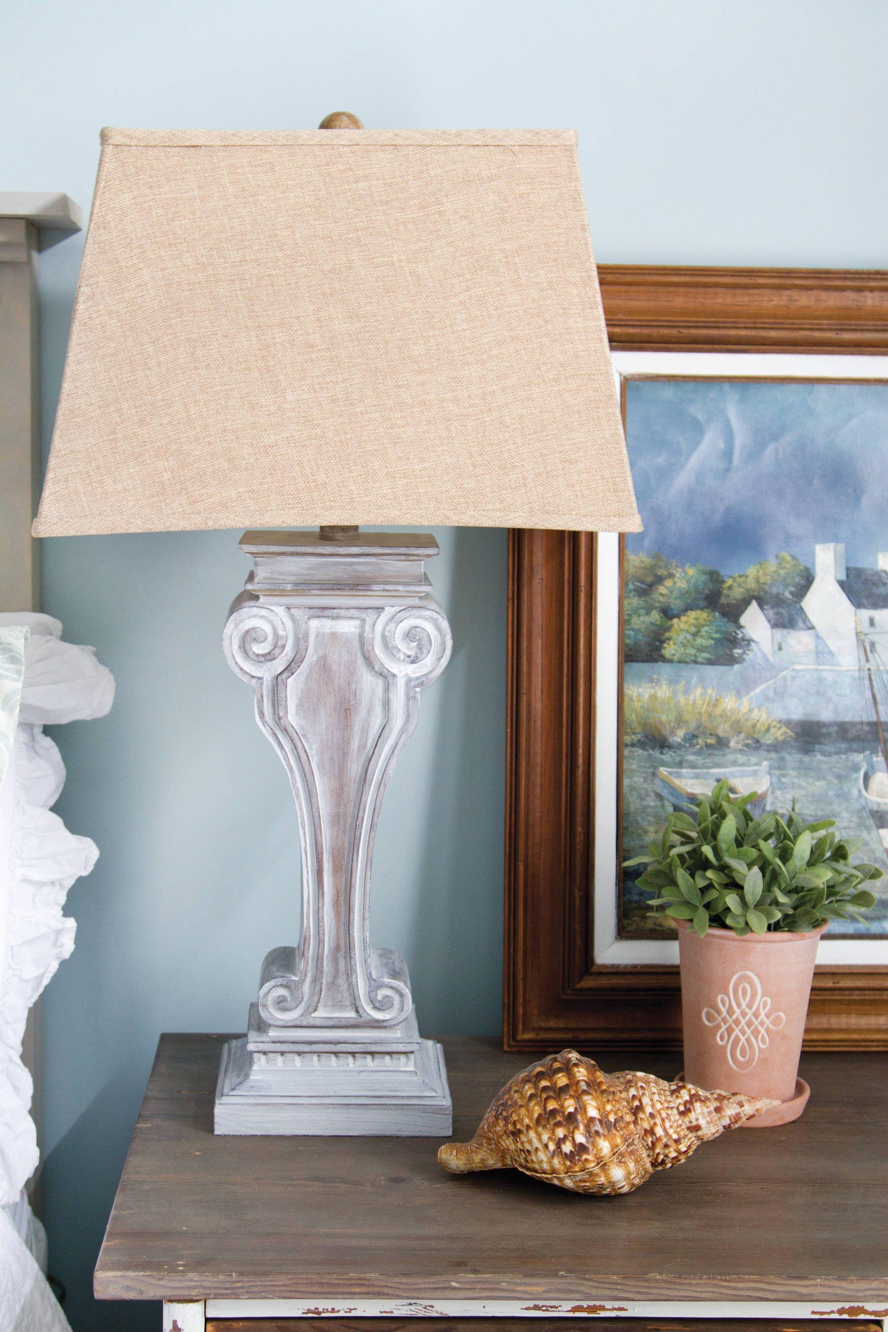 whitewash lamp