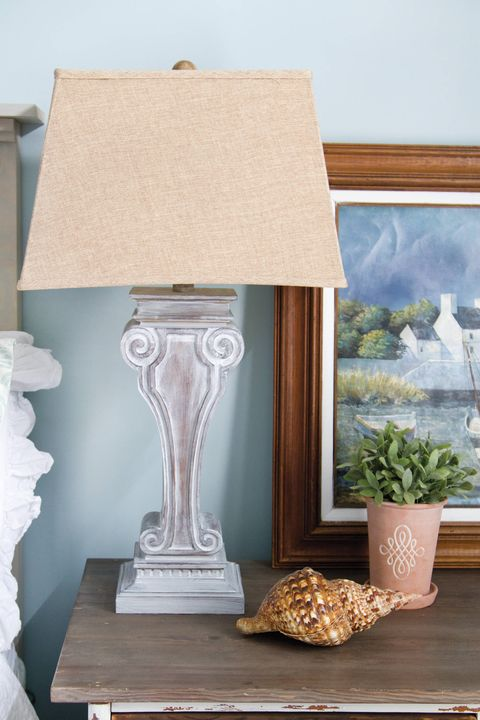 whitewash lamp