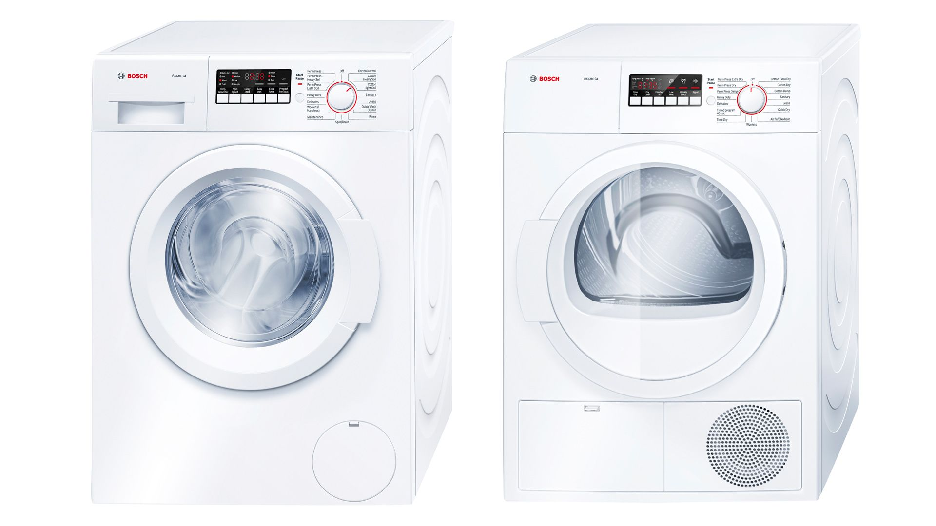 bosch ascenta washer and dryer