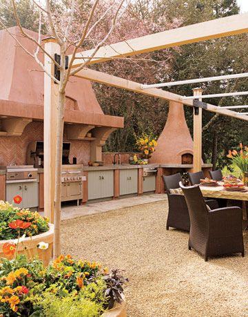 outdoor kitchen in napa valley