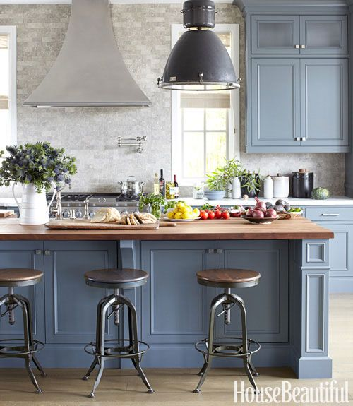 Gray And Stone Kitchen