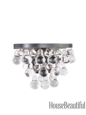 bling crystal drop sconce