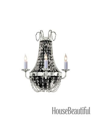 glass beaded chandelier sconce