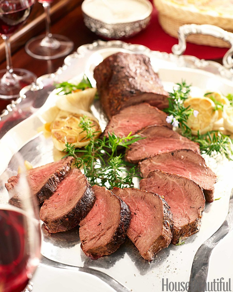 Perfect Roast Tenderloin of Beef with Horseradish Sauce