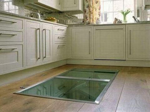 Wine Cellar in Floor - Window in Floor for Wine
