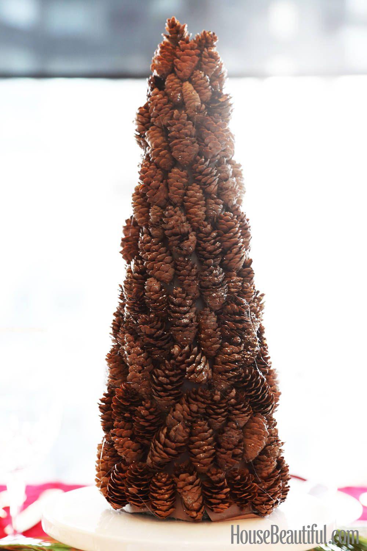 DIY The Holidays: Mini Sparkly Pinecone Tree