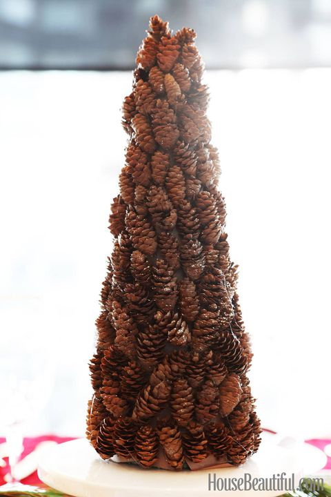 Diy pinecone tree pine cone holiday crafts image solutioingenieria Images