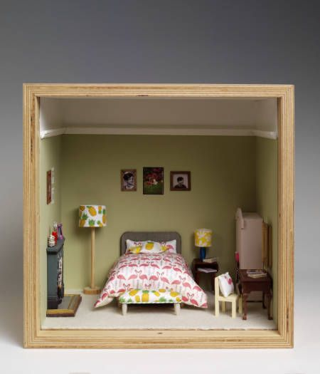 Miniature Children S Bedroom Room Box Diorama: Designer Dioramas