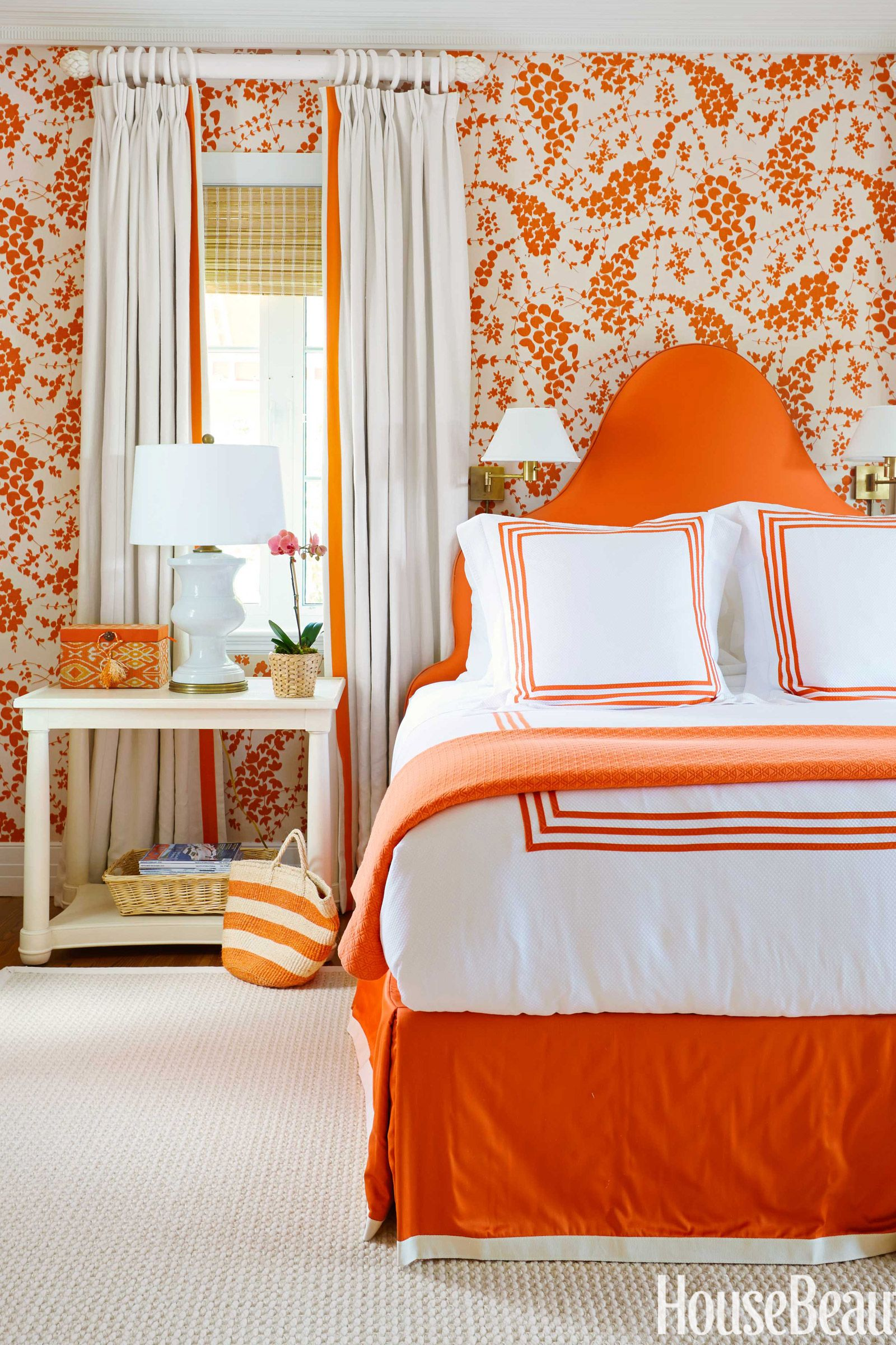 orange bedroom