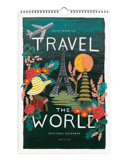 travel the world calendar