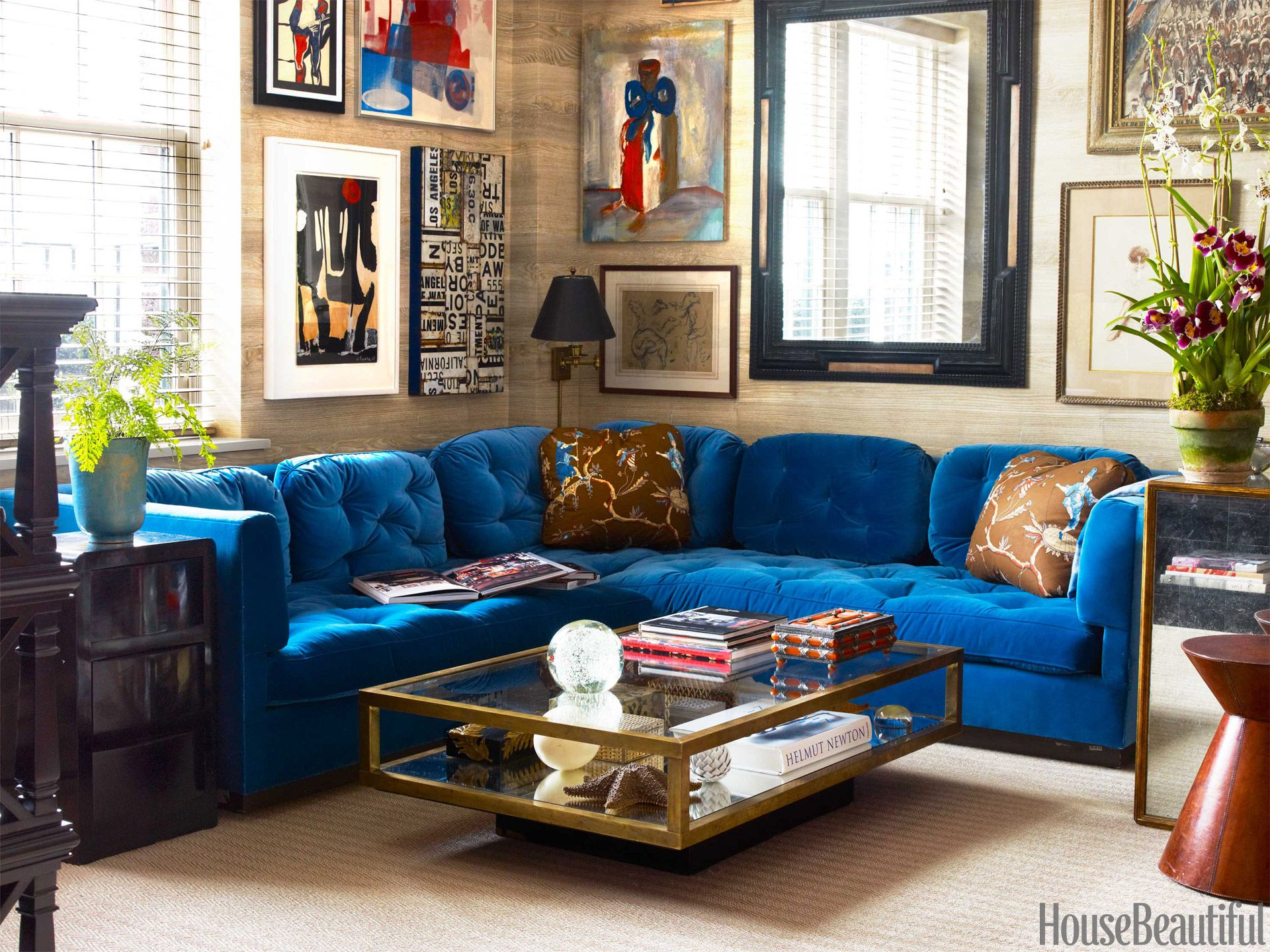 Blue Velvet Sectional