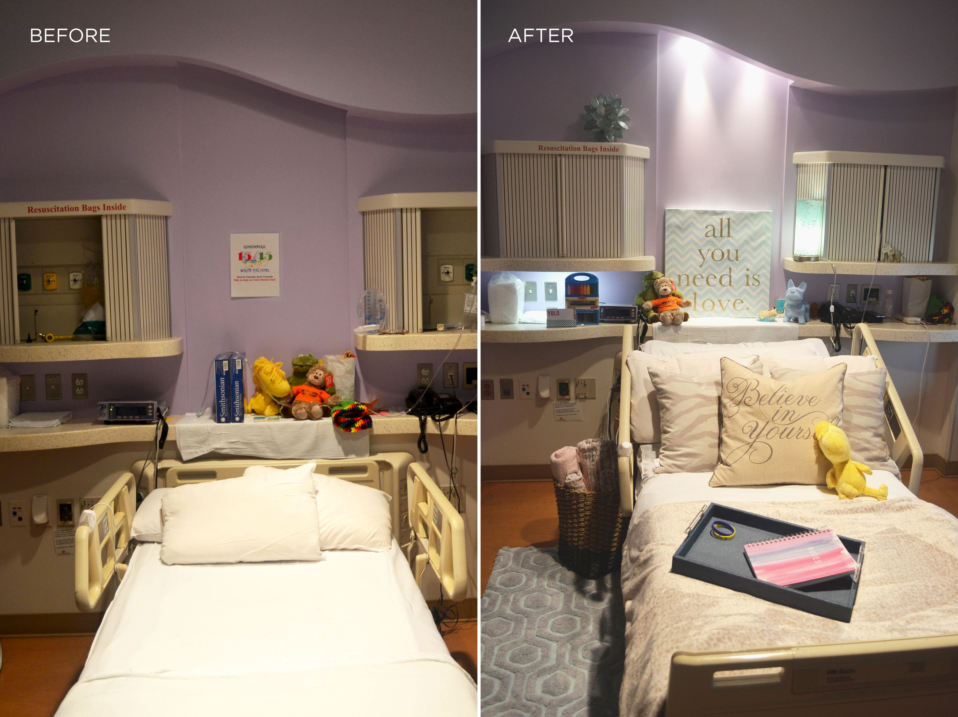 Before After A Teen S Hospital Room Gets And Uplifting Makeover Pngtree offers hd hospital room background images for free download. hospital room gets and uplifting makeover