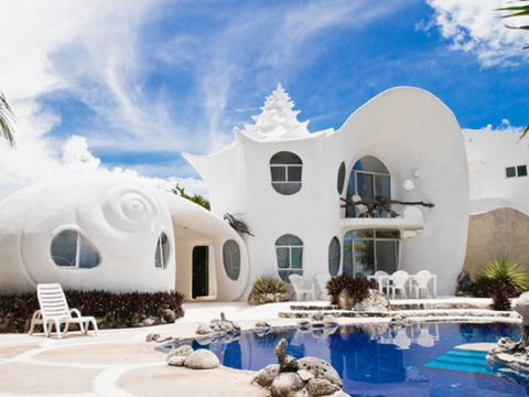 Swimming pool, Real estate, Water feature, Design, Paint, Villa, Resort, Hacienda, Courtyard,