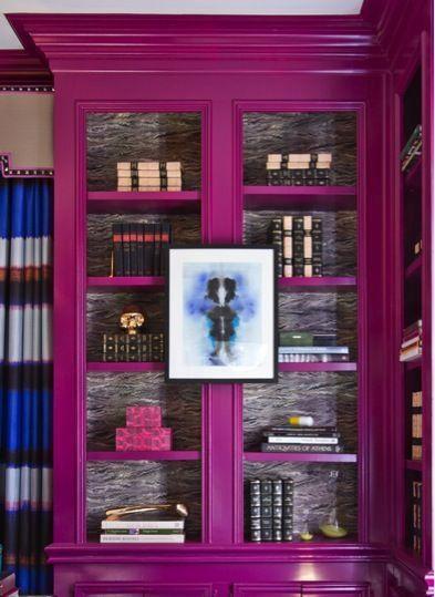 lacquer bookshelves