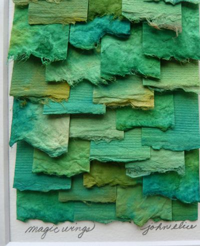 Torn Paper Collages By John Elice Affordable Colorful