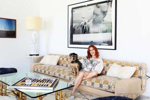 Human, Room, Living room, Interior design, Wall, Couch, Furniture, Interior design, Lamp, Comfort,