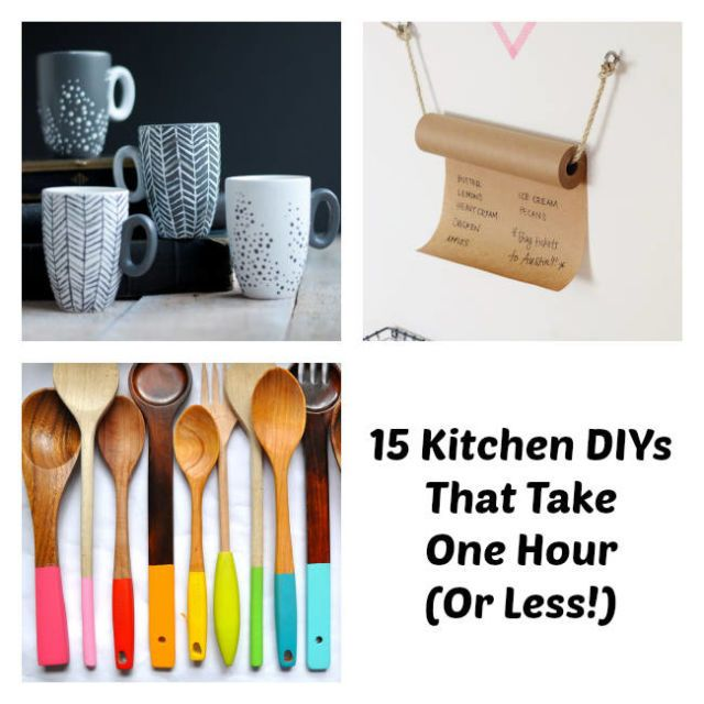 15 Kitchen DIYs That Take One Hour Or Less