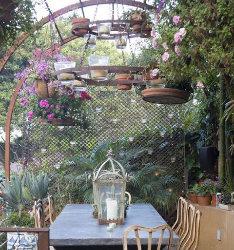 Table, Garden, Flowerpot, Serveware, Backyard, Annual plant, Perennial plant, Houseplant, Flower Arranging, Centrepiece,