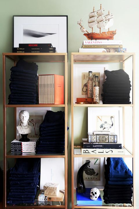 Room, Shelving, Shelf, Collection, Fashion, Closet, Display case, Porcelain, Clothes hanger, Linens,
