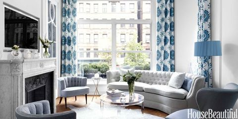 A Small, Elegant Manhattan Apartment in Blue