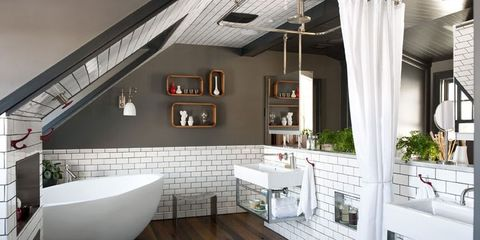 Inside an Attic Room-Turned-Gentleman's Bathroom