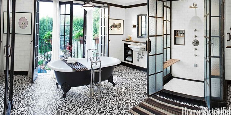An Industrial Chic Bathroom in Los Angeles