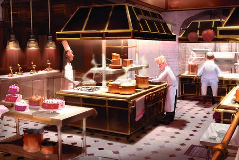 animated restaurant kitchen