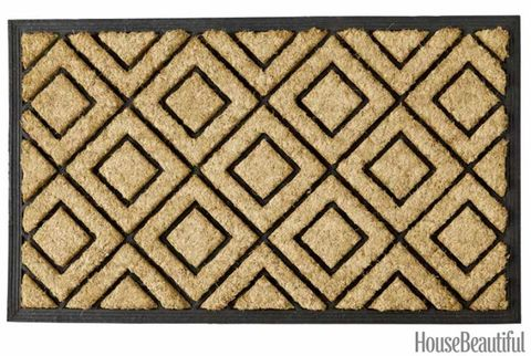 natural diamond print rug