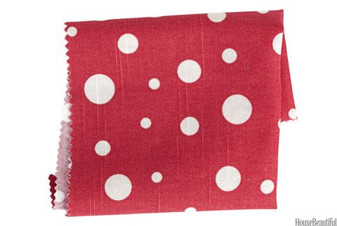 duralee red and white dots fabric
