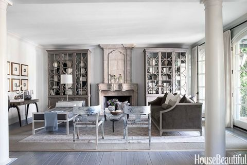 english style bookcases - Neutral Living Room