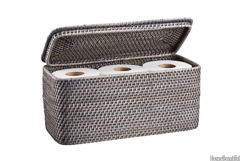 crate and barrel toilet paper storage basket  sc 1 st  House Beautiful & Bathroom Storage Basket - House Beautiful Favorite Products November ...