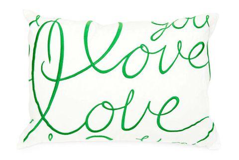 green love pillow