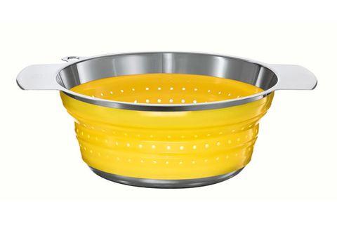yellow kitchen colander