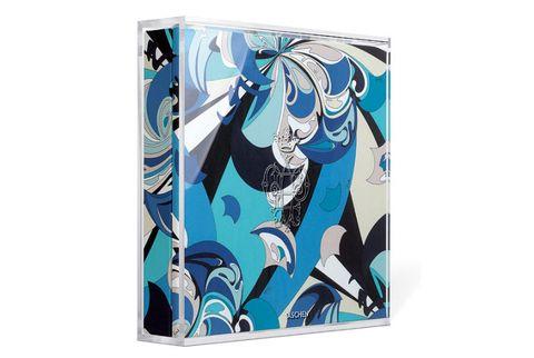 blue designer art box book