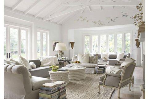 Interior design, Room, Floor, Living room, Furniture, Home, White, Ceiling, Flooring, Wall,