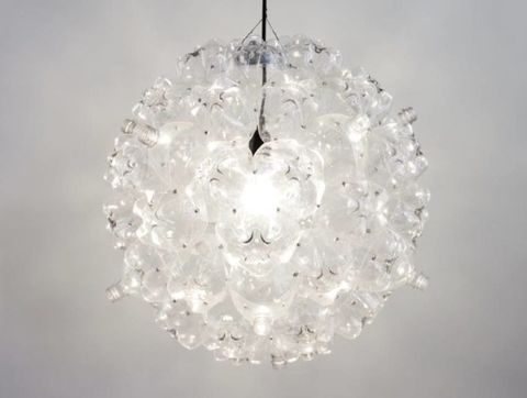 White, Ceiling fixture, Light fixture, Light, Grey, Macro photography, Lighting accessory, Interior design, Circle, Transparent material,