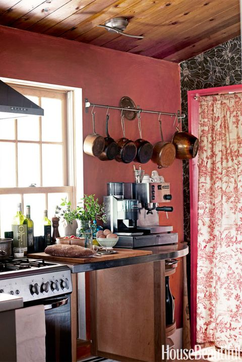 Rust Red Kitchen
