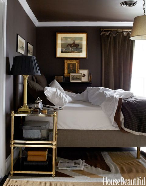 15 Best Dark Paint Color Rooms - How to Decorate With Dark ...